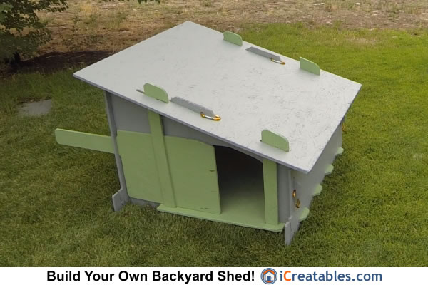 Beautiful large chicken coop is the perfect coop for 9-18 chickens.