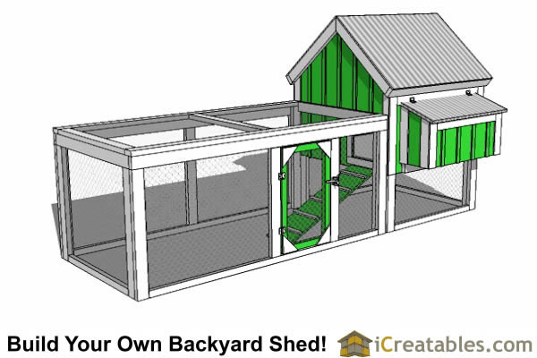 How To Build A Shed - Gable Roof and Chicken Run - Shed Plans