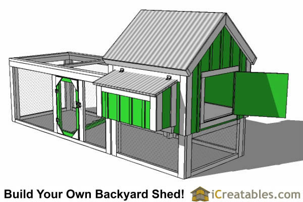 4x4 Chicken Coop Plans With Gable Roof