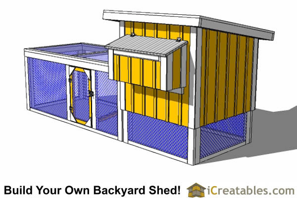4x4 chicken coop plans right side