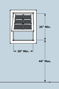 awning window egress