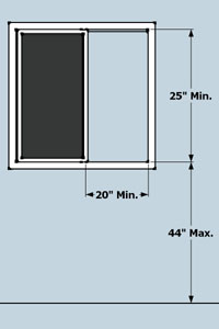 egress window requirements