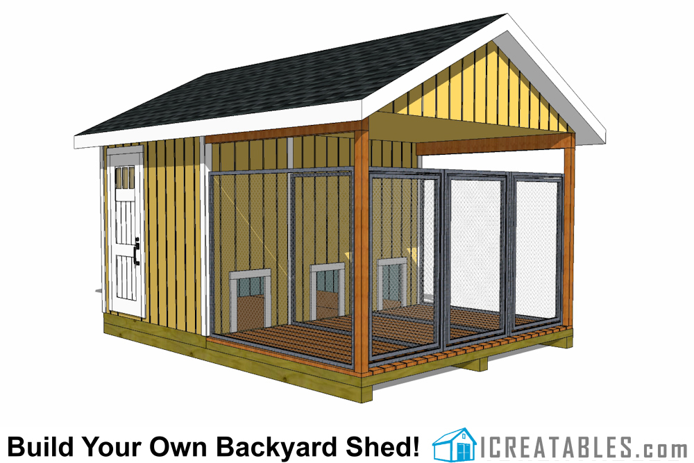 Dog Kennel Building Plans And Diy Dog Runs