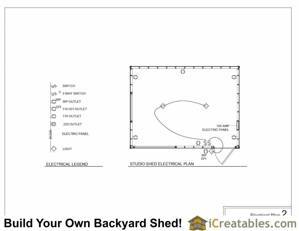 shed plans electrical