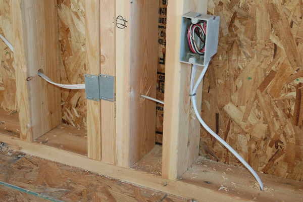 install electric outlet