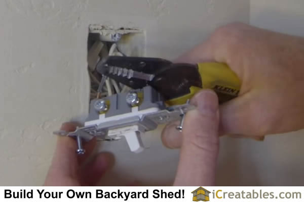 remove wires from light switch