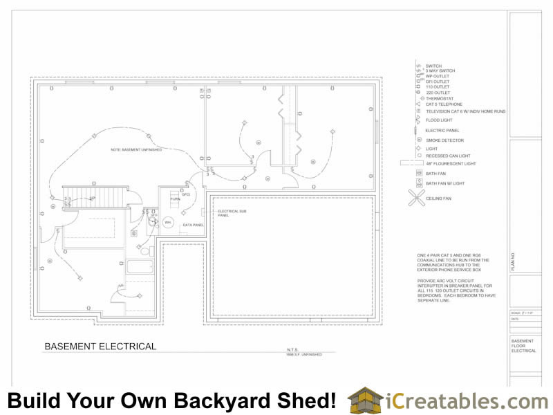How to wire a backyard shed orbasement basement electrical plan example asfbconference2016 Images