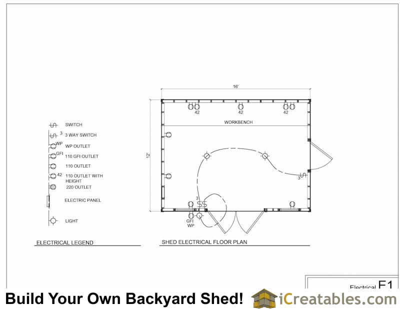 How to wire a backyard shed orbasement for Shed layout planner