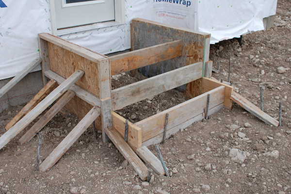 Framing Forms Concrete Steps