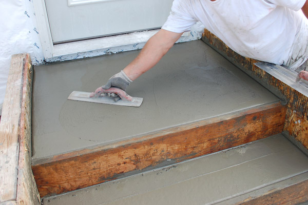 concrete steps second trowel