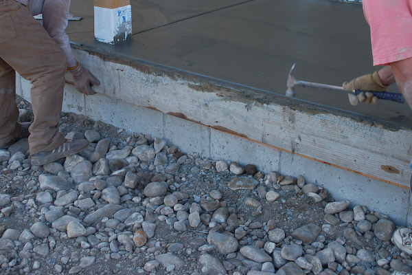 concrete steps remove riser board