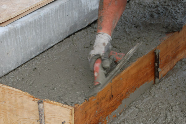 screed top concrete steps