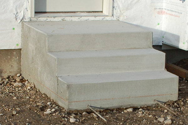 how to build concrete steps