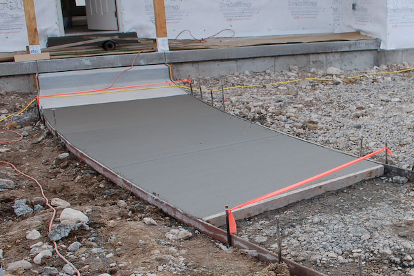 How To Pour A Concrete Walkway