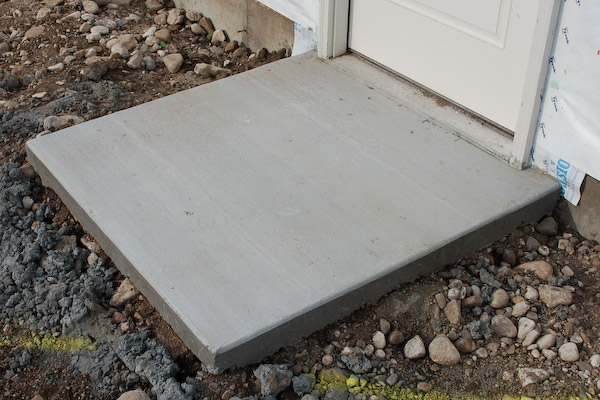 Pouring A Concrete Pad Or Landing At Shed Door