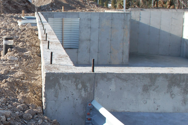 the foundation wall bowed almost 3 inches inward but did not crack