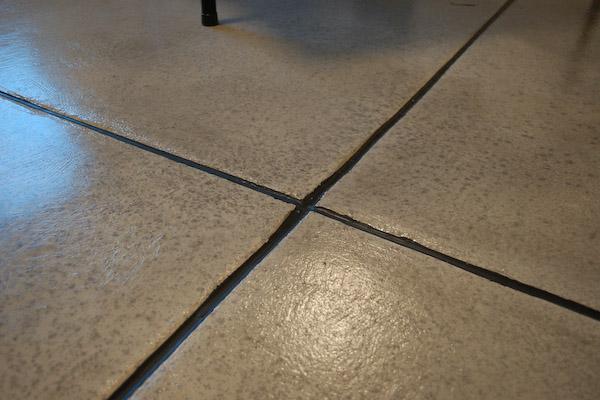 Vinyl tile basement concrete floor