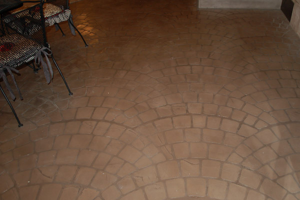 stamped concrete overlay pavers