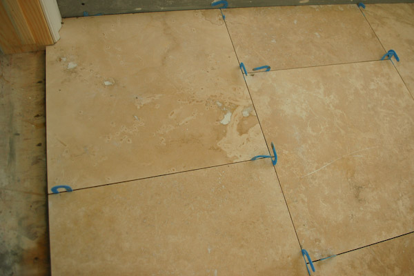 how to fix grout in out door tiles