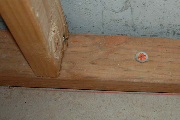basement wall chalk line framing