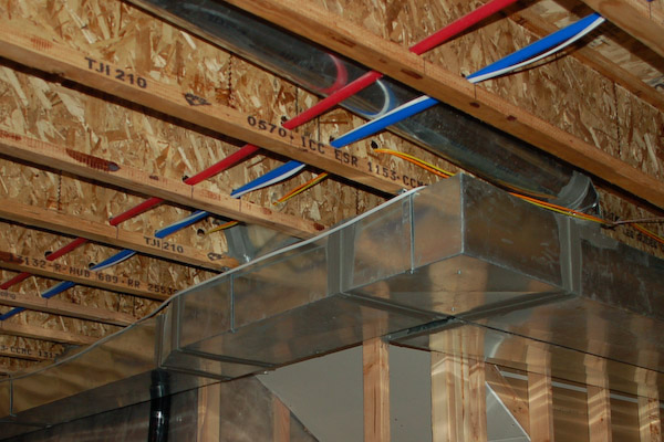 mechanical in floor joists