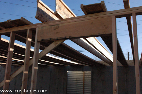 bearing on a center wall when joists span great distances between two