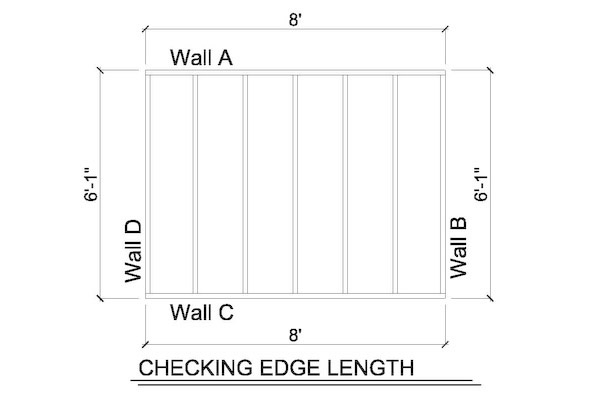 how to square a wall-check wall length