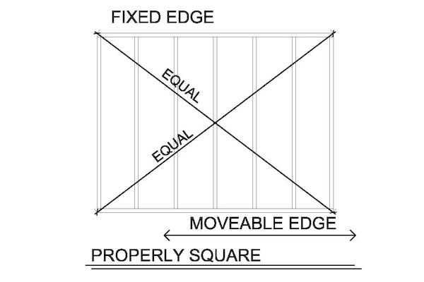 how to square a wall-wall square