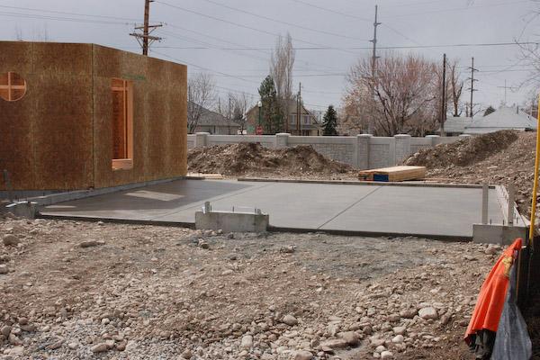 Step 13 frame the garage for Concrete slab for garage