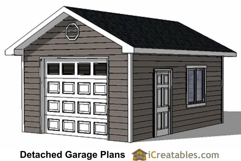 Single car garage plans home desain 2018 for Garage door plans free