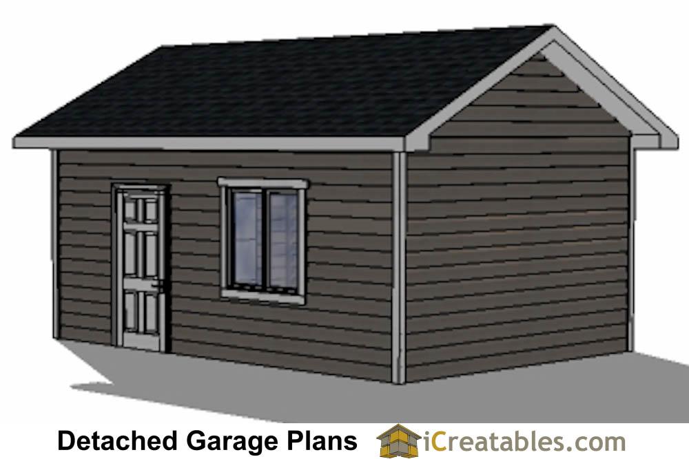 14x20 garage plans 1 car 1 door detached garage plans for 14 foot tall garage door