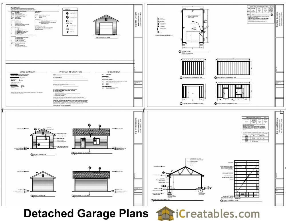 14x20 Garage Plans