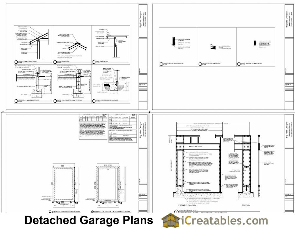 14x20 Garage Plans Example Page 2