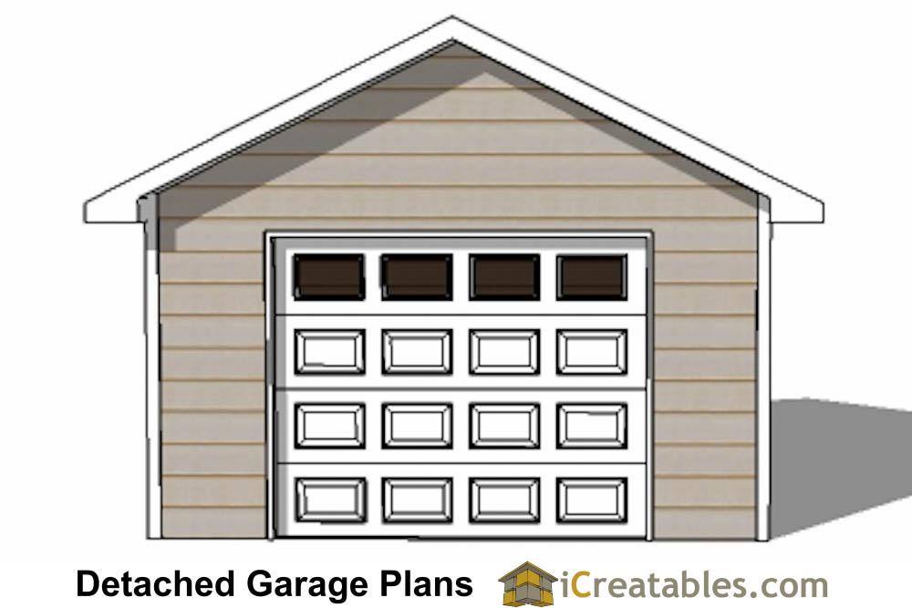 16x16 garage plans 1 car 1 door detached garage plans for 14 foot tall garage door