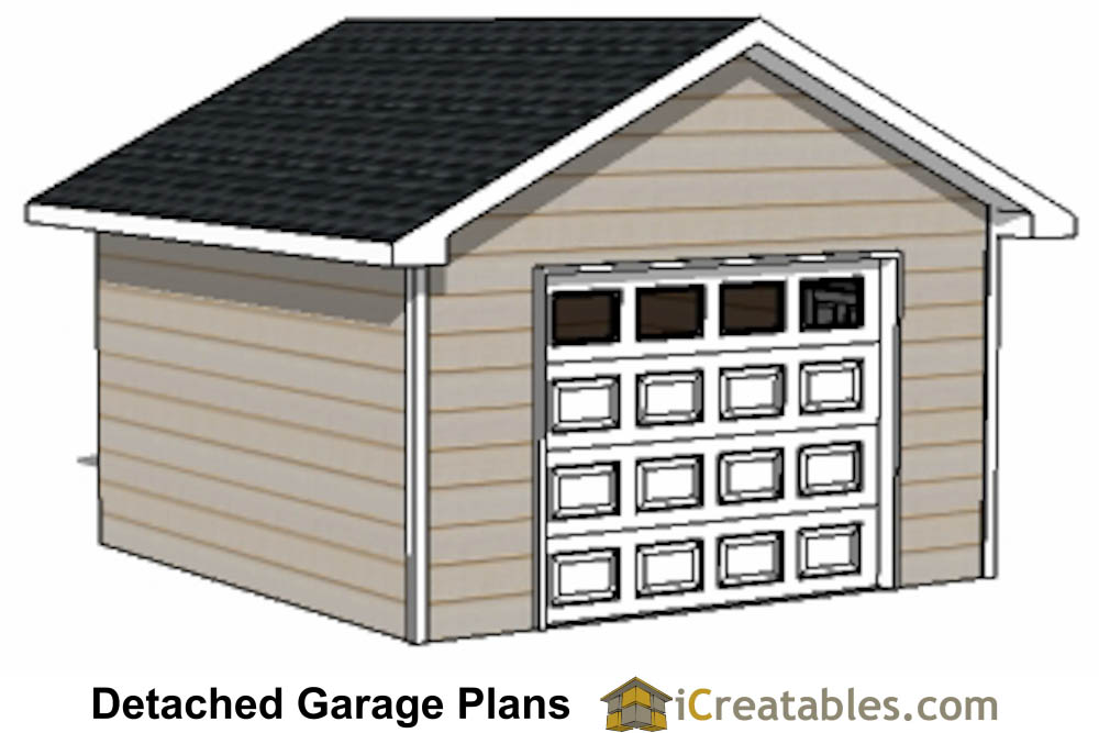 16x16 garage plans 1 car 1 door detached garage plans for 16 car garage