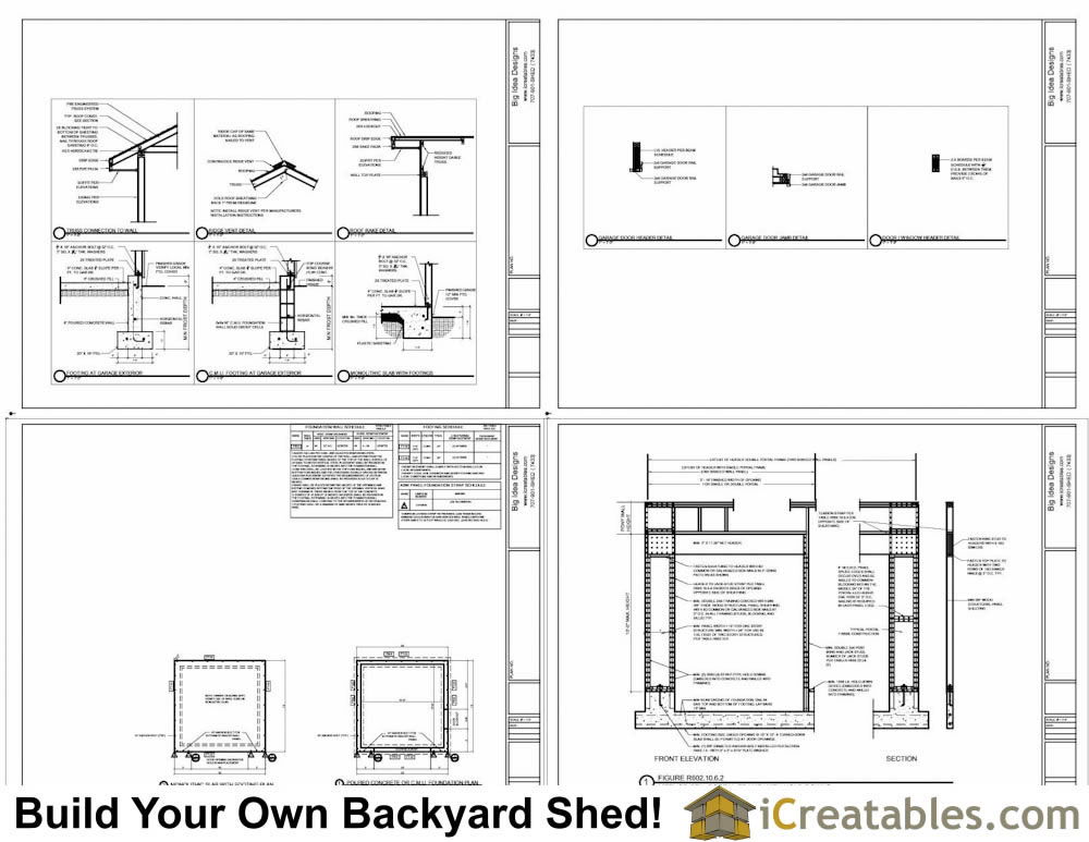 16x16 Garage Plans Example Page 2