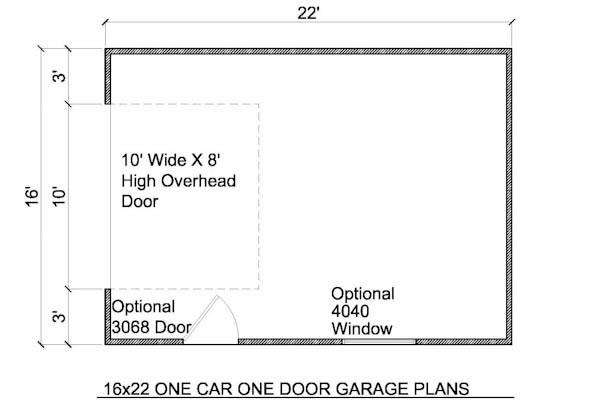 16x22 detached garage plans build your own garage
