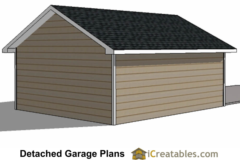 20x20 garage plans 2 car 1 door detached for 20 x 24 garage plans