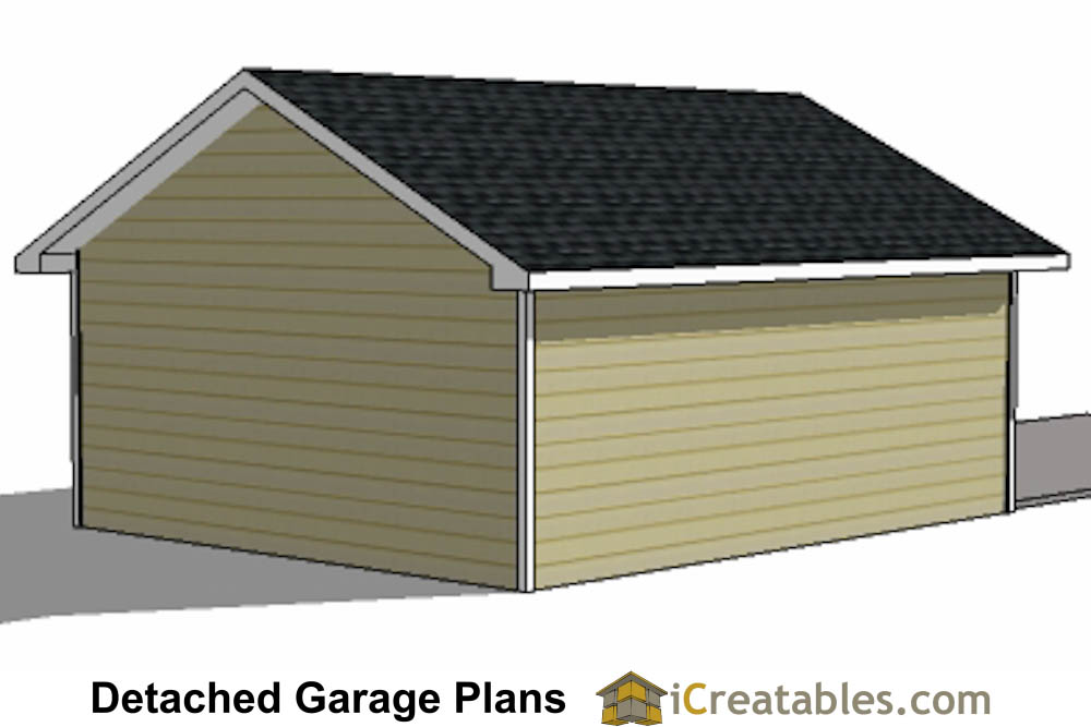 20x26 1 car detached garage plans download and build for 20 x 24 garage plans