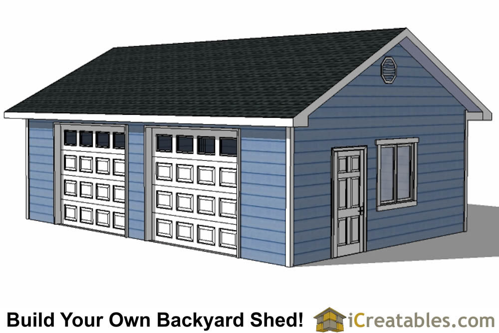 20x28 Garage plans with single door