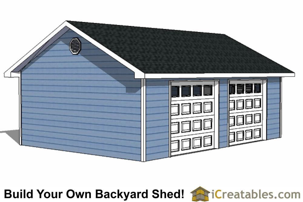 20x28 2 car 2 door detached garage eve over door plans for 2 car deep garage
