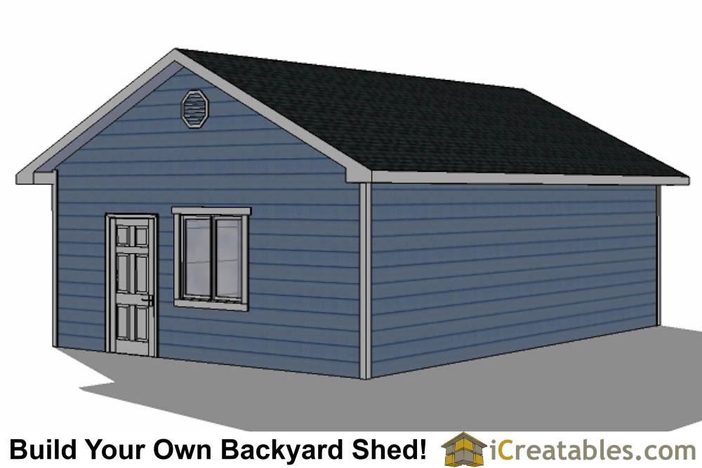 20x28 2 car 2 door detached garage eve over door plans for 2 door garage plans