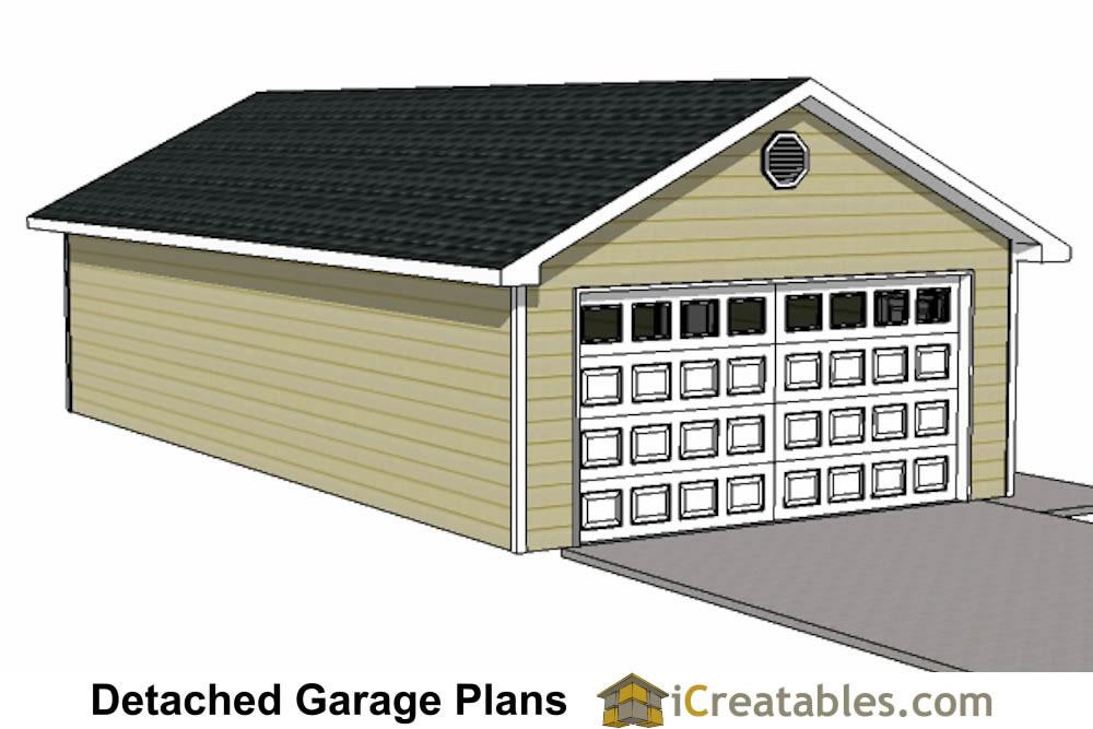 20x40 garage plans 20x40 detached garage plans for How much to build a 3 car detached garage