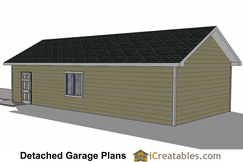 20x40 garage plans 20x40 detached garage plans for 24x40 garage