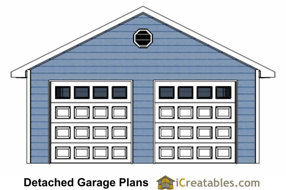 22x22 2 car 2 door detached garage plans for Material list for garage
