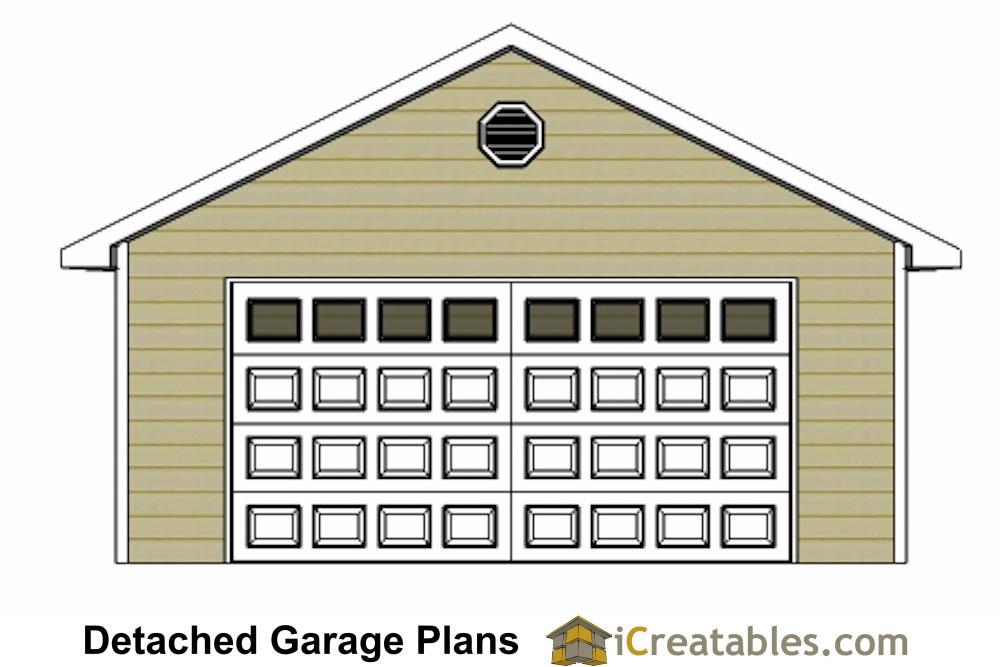 Front Elevation Car Garage Door : Car door detached garage plans