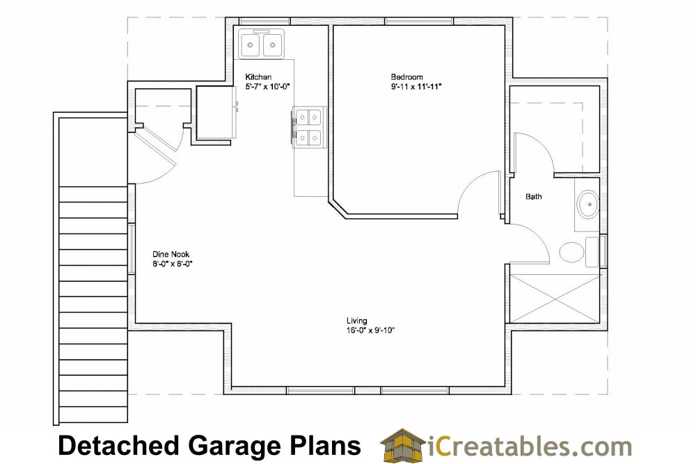 17 fresh garage apartment floor plan architecture plans for Garage apartment floor plans