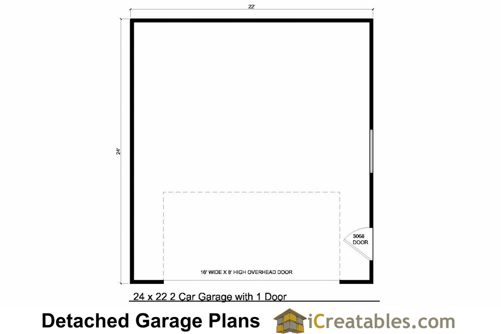 24x22 garage plans 2 car garage plans for 2 car garage floor plans