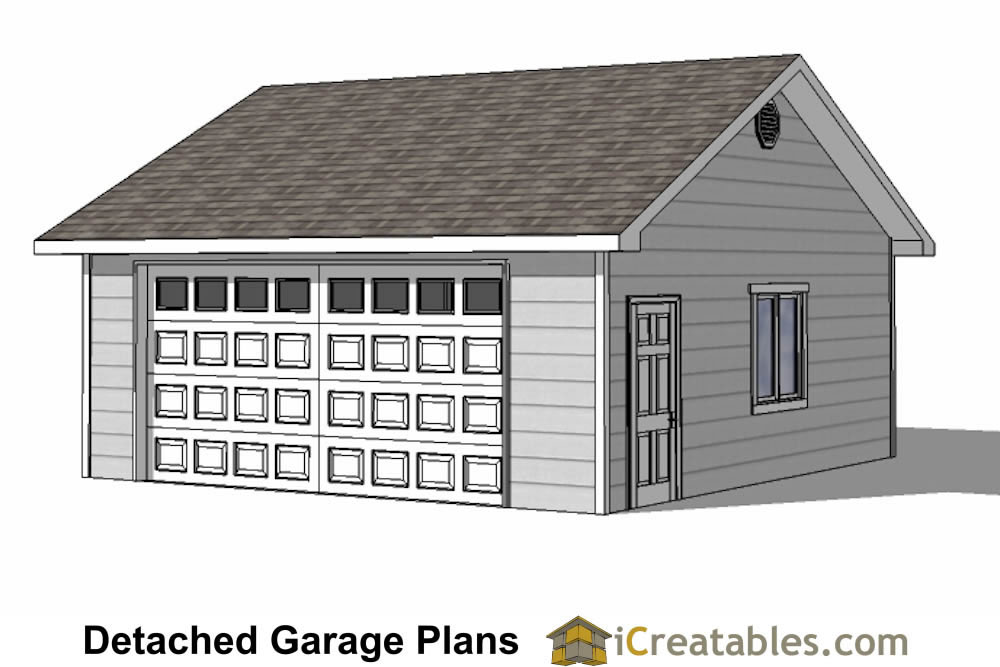 Diy 2 car garage plans 24x26 24x24 garage plans One car garage plans