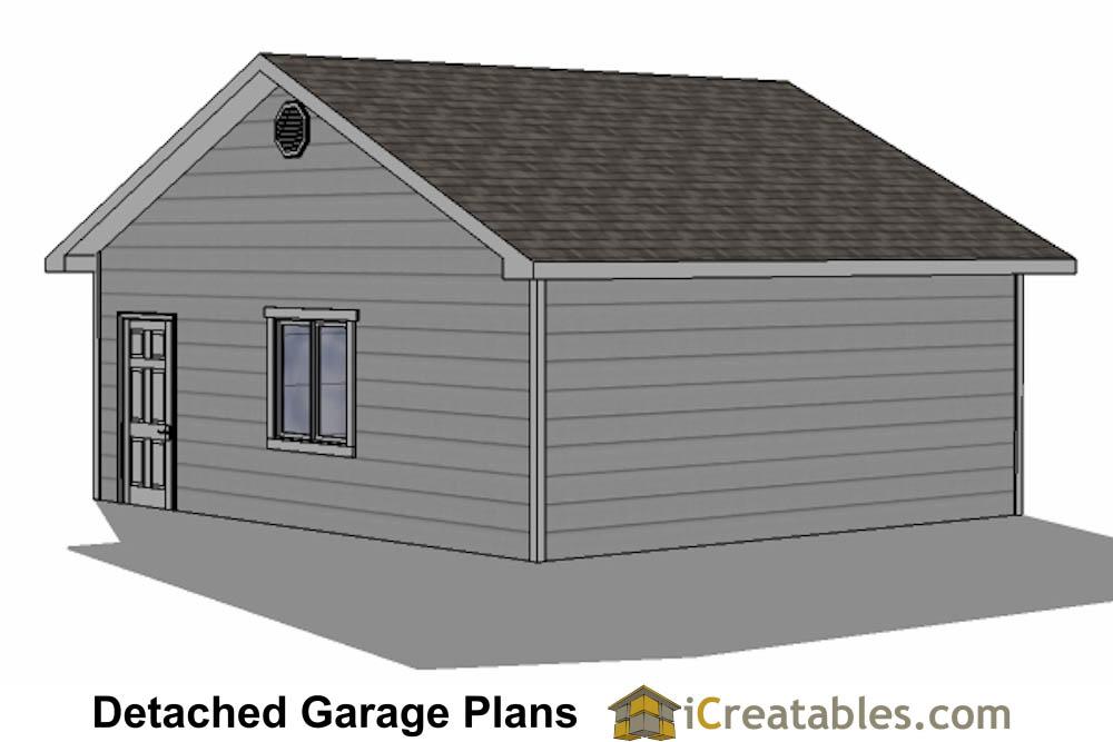 24x22 Garage Plans 2 Car Garage Plans